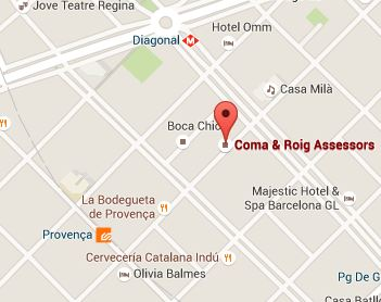 Mapa de Coma Roig en Barcelona
